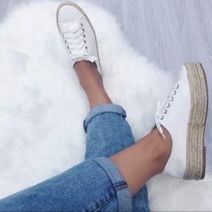 White Espadrille Sneakers